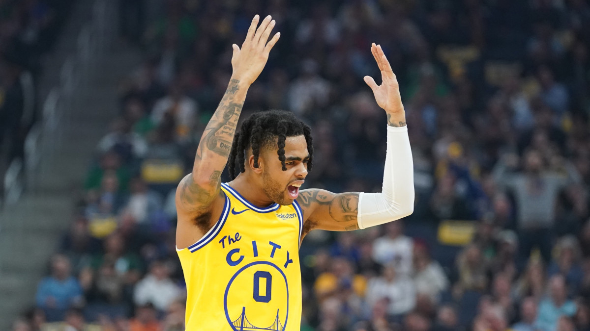 D'Angelo Russell will out be out at least two weeks with a right thumb sprain.