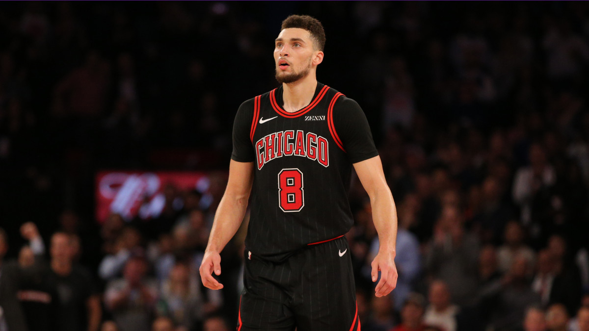 Zach LaVine became the third player to make 13 threes in an NBA game.