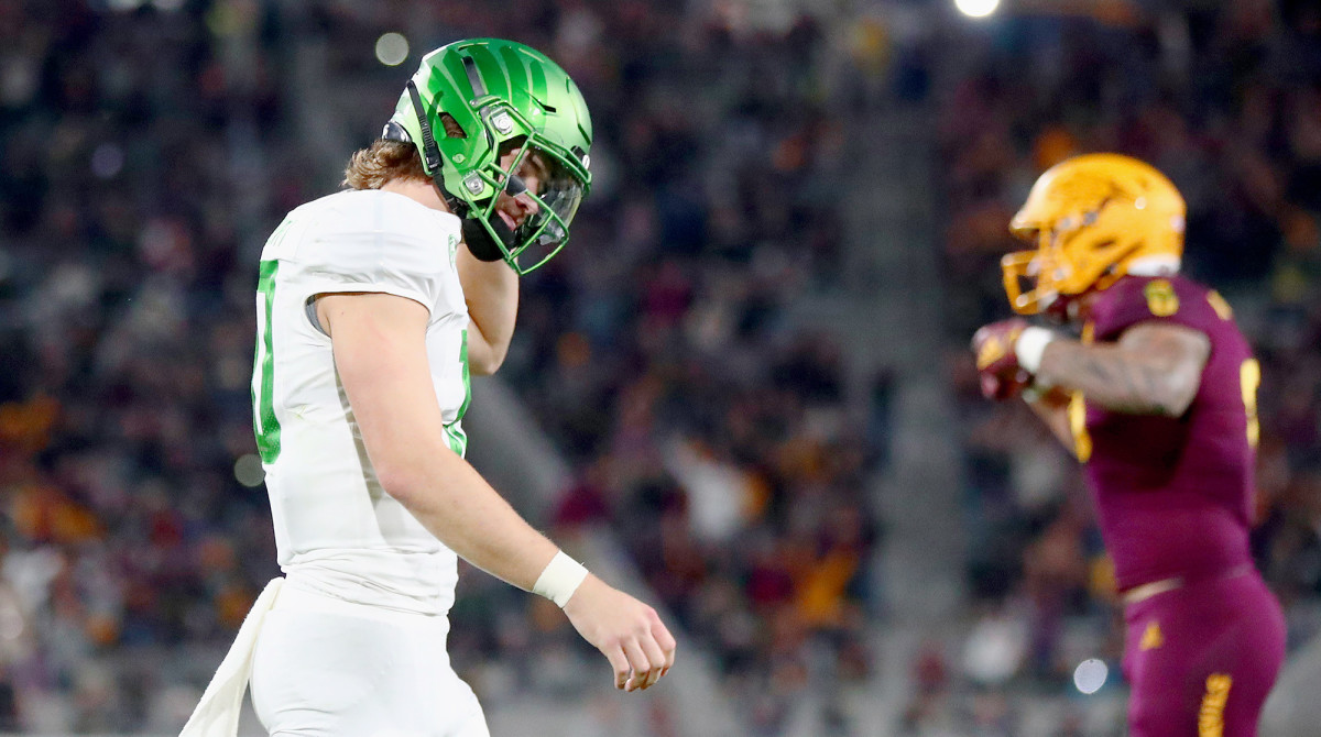 Herbert was just 20 of 36 with two fourth-quarter picks against the Sun Devils.