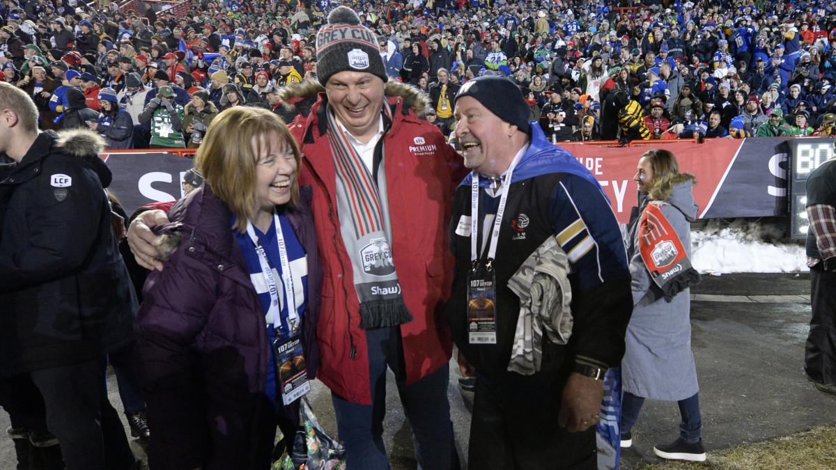 Winnipeg Blue Bombers fan Chris Matthew at the CFL Grey Cup