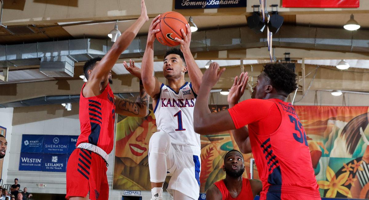 Kansas vs Dayton basketball Maui Devon Dotson