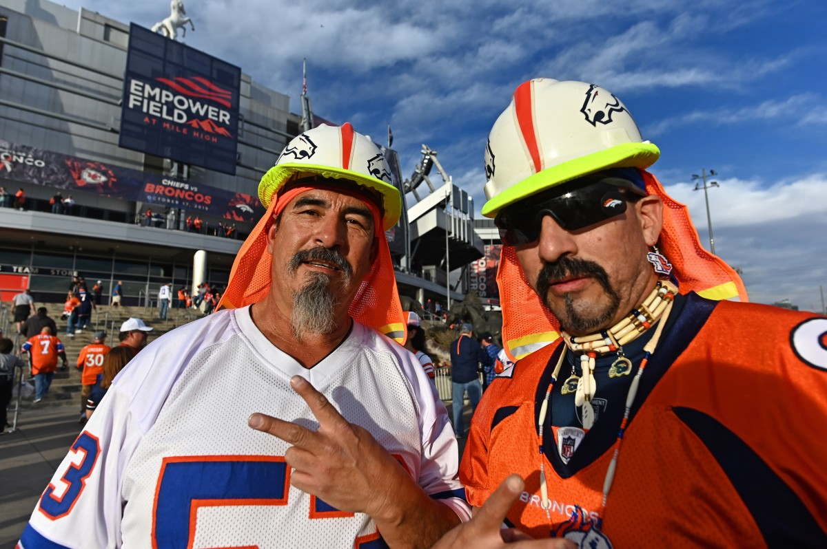 General view of Denver Broncos fans before the game against the Kansas City Chiefs at Empower Field at Mile High.