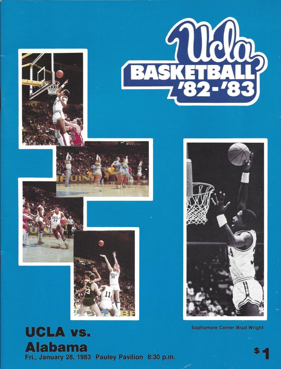 UCLA game program at Pauley Pavilion.
