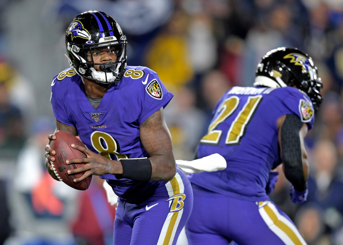 Lamar Jackson leads the Ravens
