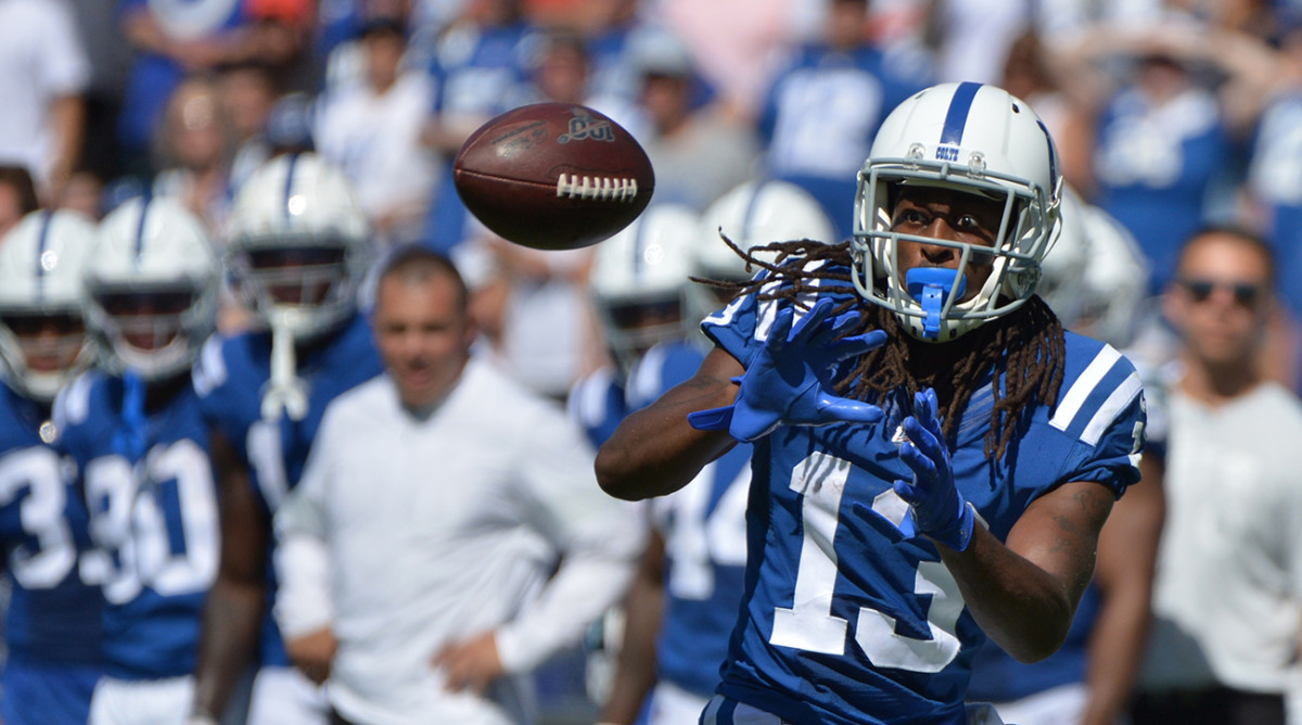 Colts' T.Y. Hilton Ruled Out With Calf Injury vs. Titans