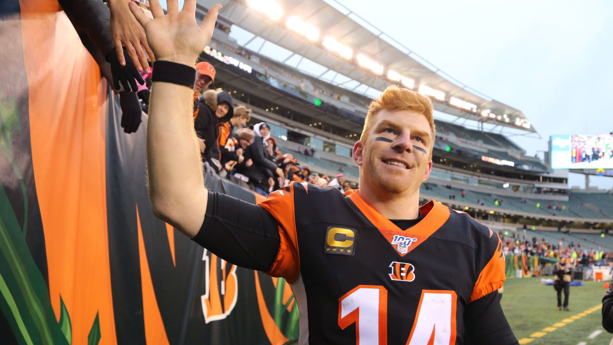 Bengals QB Andy Dalton recorded his first win of the season by downing the Jets.