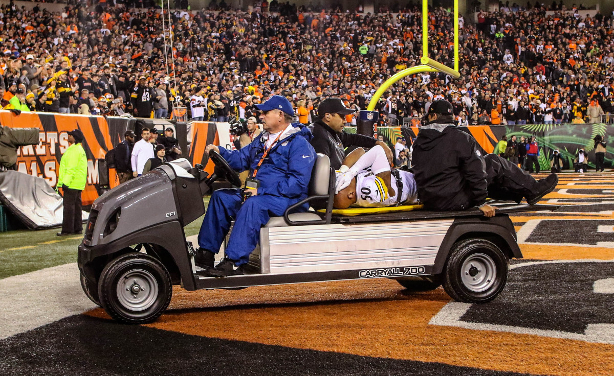 Ryan Shazier carted off after spine injury