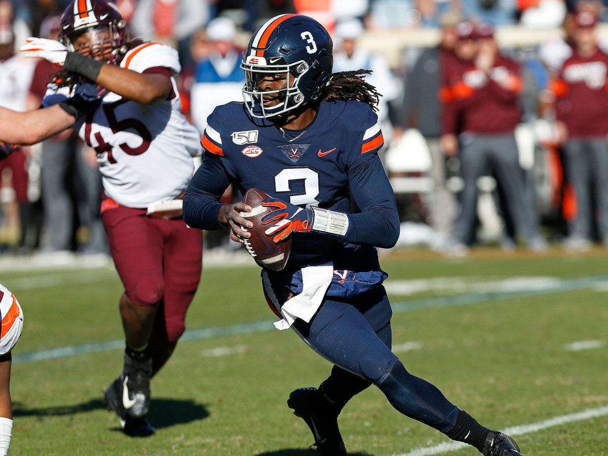 Bryce Perkins Virginia football quarterback