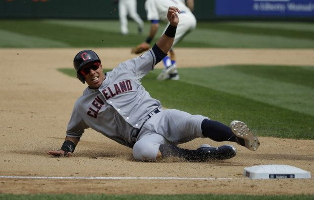 Image result for michael brantley on the bases