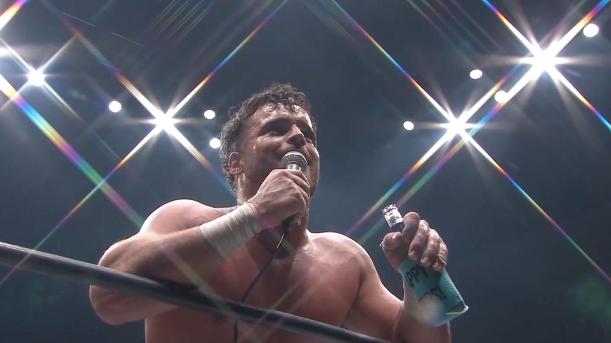 NJPW's Juice Robinson cuts a promo