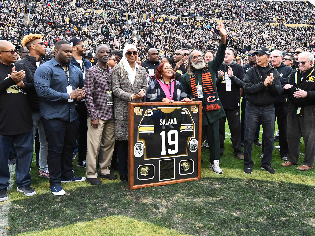 Salaam honored with retired number ceremony