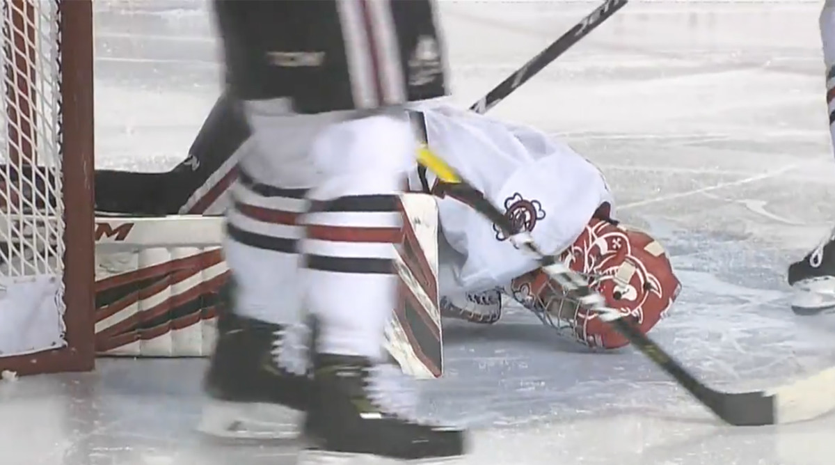 Tucker Tynan OHL Goalie Stable Condition Surgery Collision
