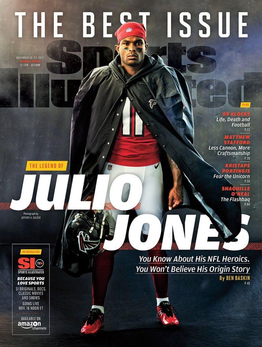 Julio Jones on Sports Illustrated cover, Nov. 20, 2017