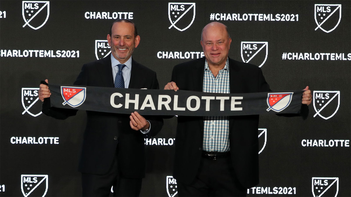 MLS commissioner Don Garber and Charlotte expansion chief David Tepper