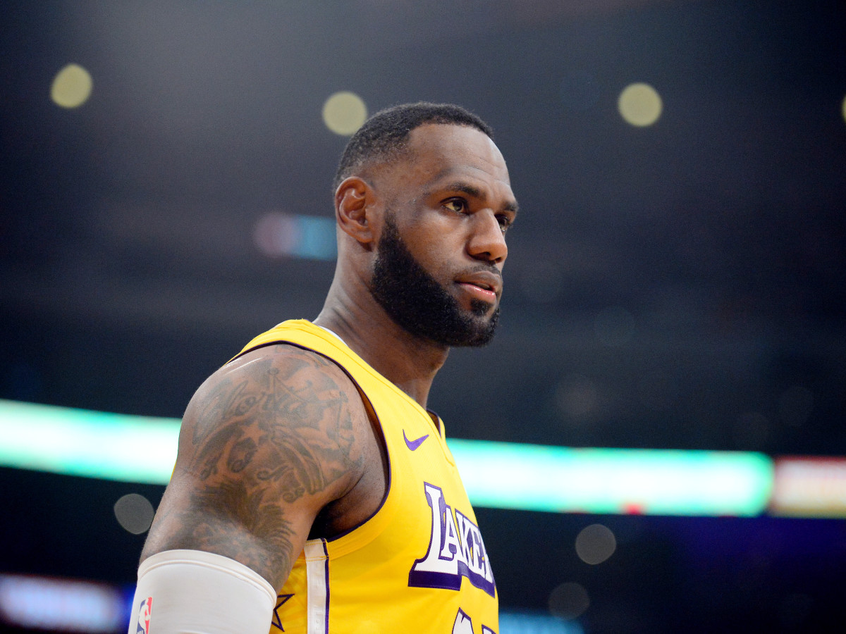 December 25, 2019; Los Angeles, California, USA; Los Angeles Lakers forward LeBron James (23) against the Los Angeles Clippers during the first half at Staples Center. Mandatory Credit: Gary A. Vasquez-USA TODAY Sports