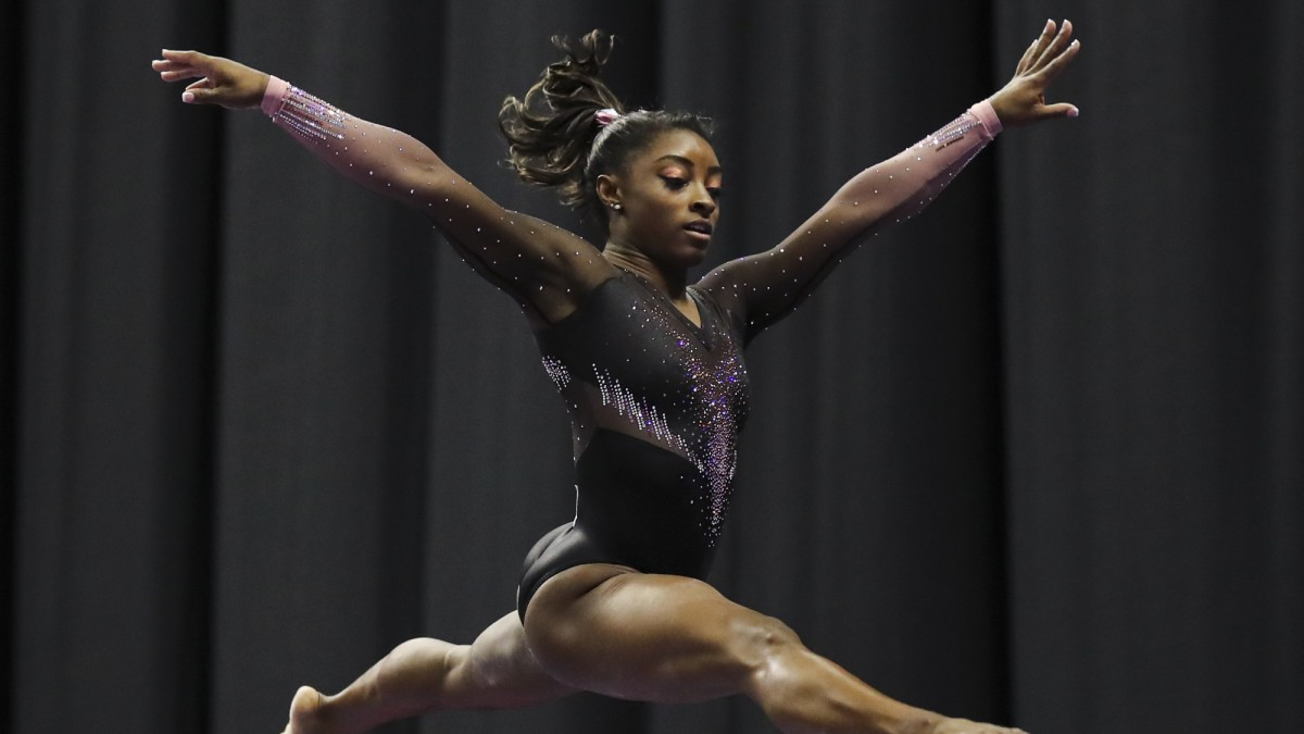 Simone Biles competes at the 2019 U.S.A. Gymnastics Championships.