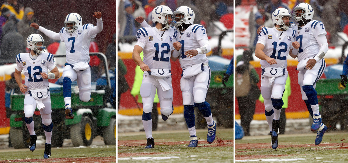 Andrew Luck and Jacoby Brissett