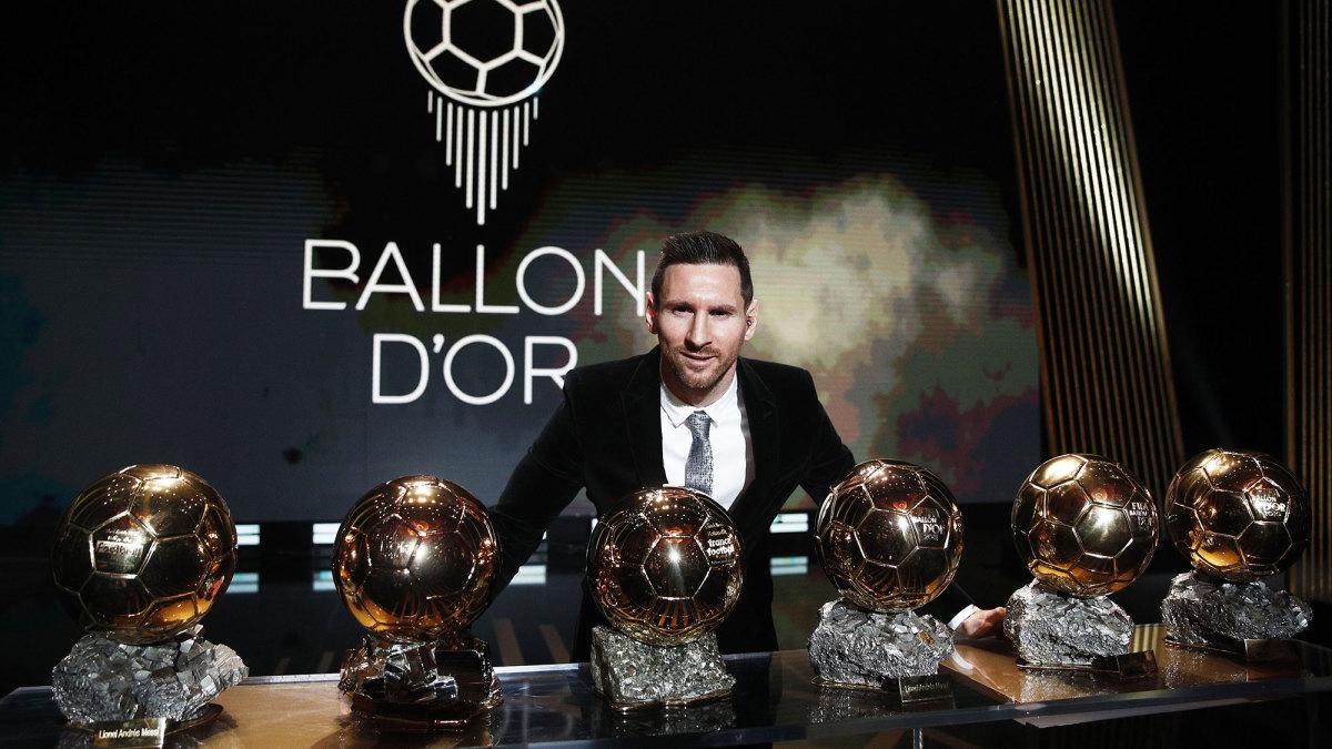 Lionel Messi wins six Ballon d'Or trophies