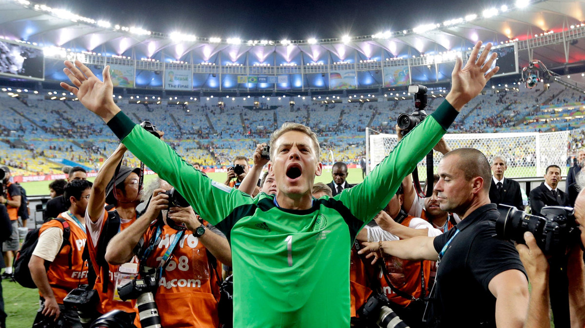 Manuel Neuer helped Germany win the 2014 World Cup