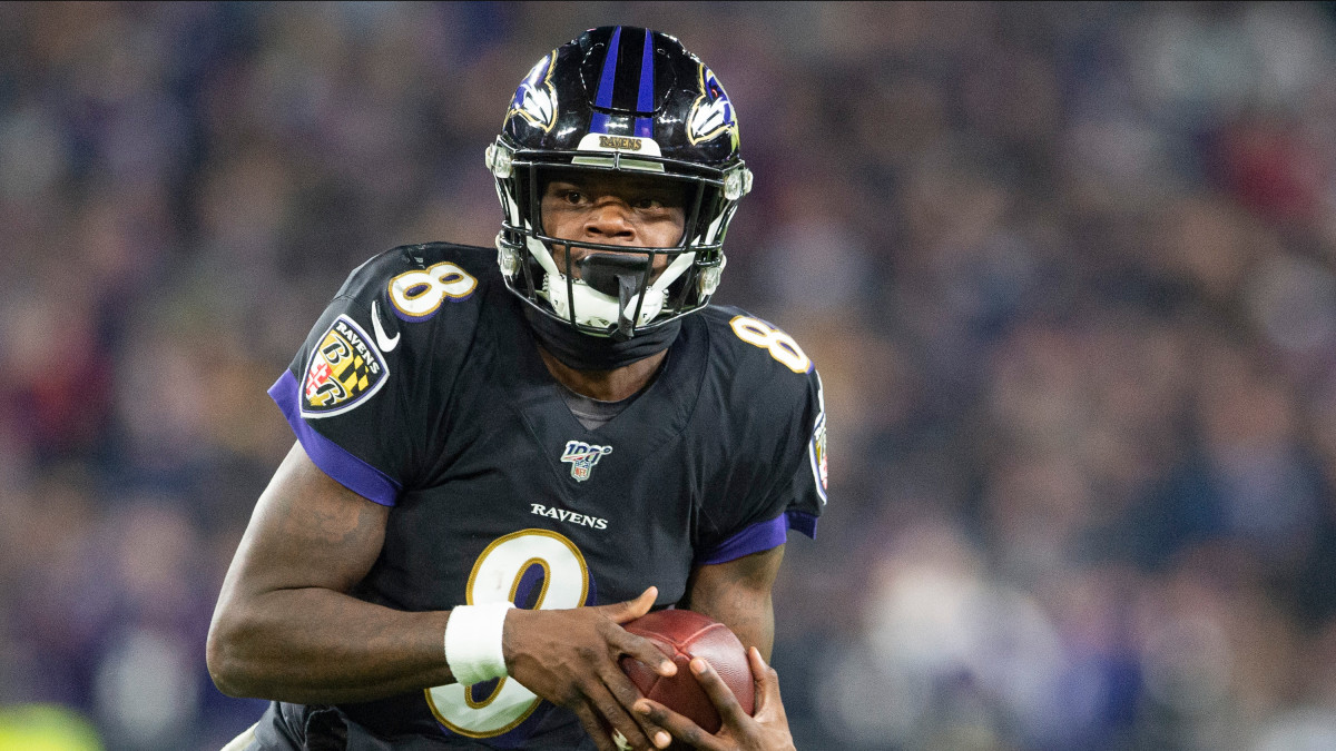 Lamar Jackson and the Ravens will face the Titans in the NFL Divisional Round.