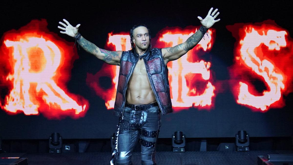 WWE's Damian Priest (Luis Martinez) makes his entrance on NXT
