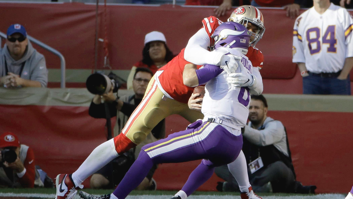Armstead dropped Cousins early on, setting the tone for a day in which the Vikes had seven first downs.