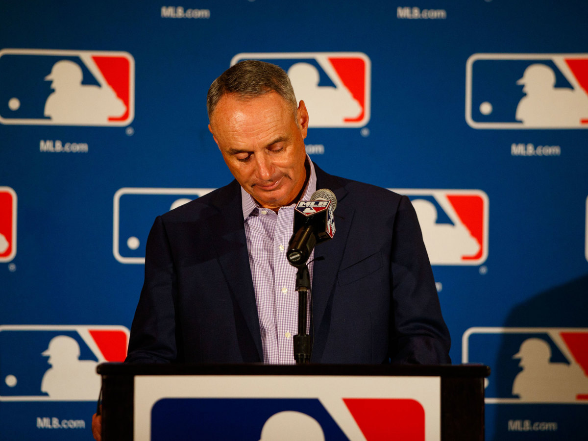 Rob Manfred looking disappointed