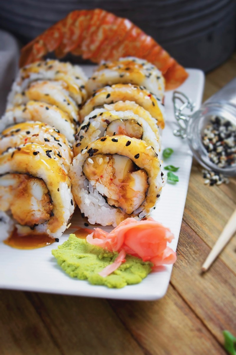 Roman Reigns sushi roll from Jimmy's Seafood