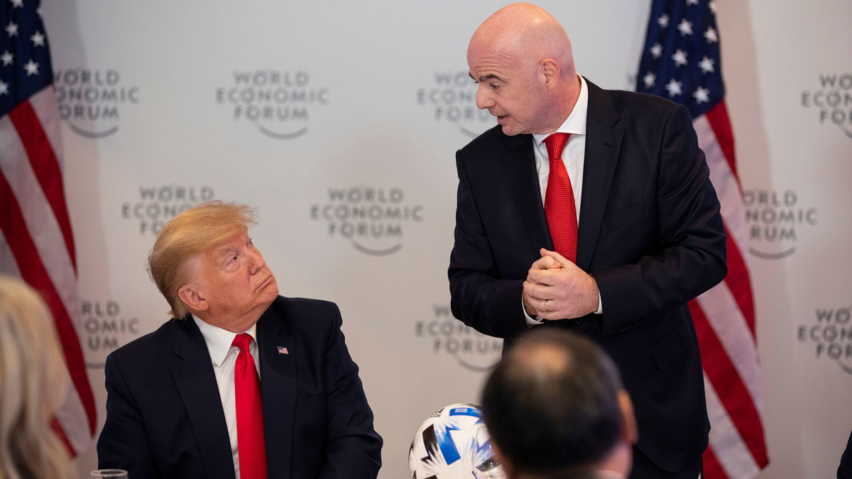 Donald Trump and Gianni Infantino in Davos
