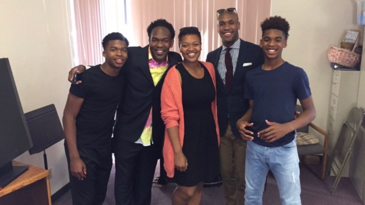 The Christophers (from left to right): Caleb, Laron, Paris, Patrick and Josh.