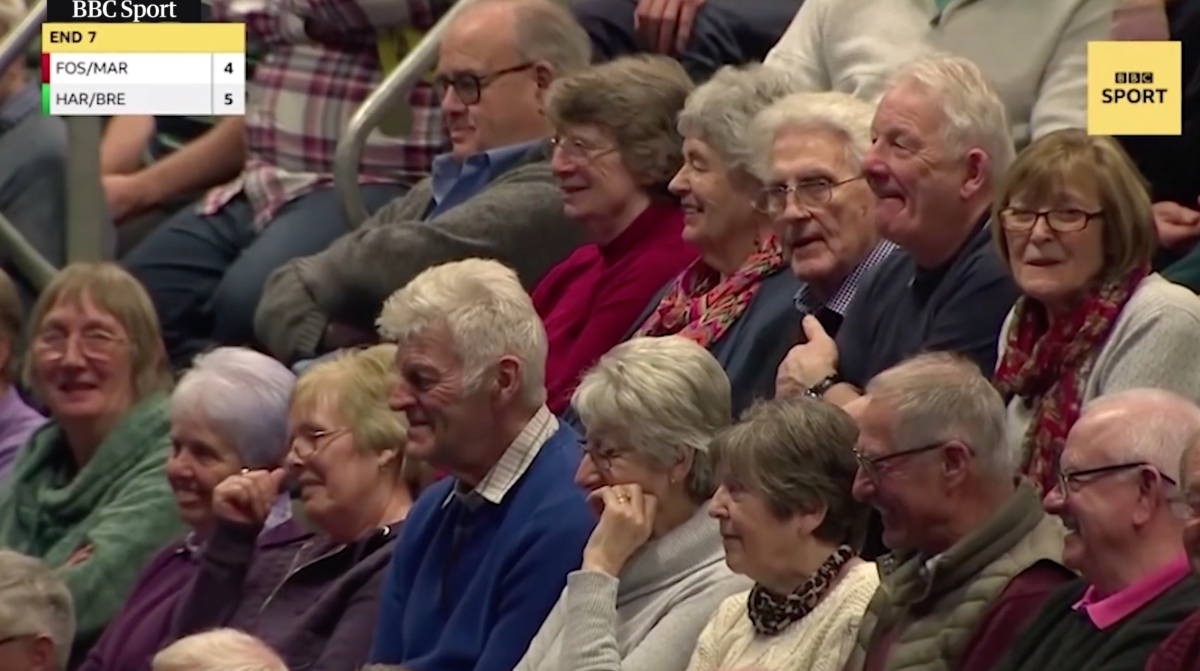 Fans at the 2020 World Indoor Bowls Championship