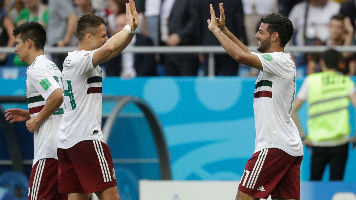 Chicharito and Carlos Vela at the 2018 World Cup