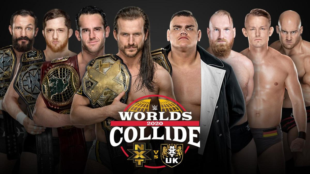 """Promo image for WWE NXT's """"Worlds Collide"""" event"""