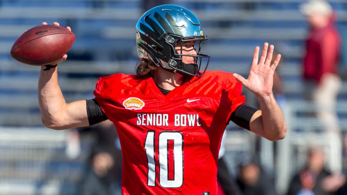 Justin Herbert looks to raise NFL Draft stock during Senior Bowl week - Sports Illustrated