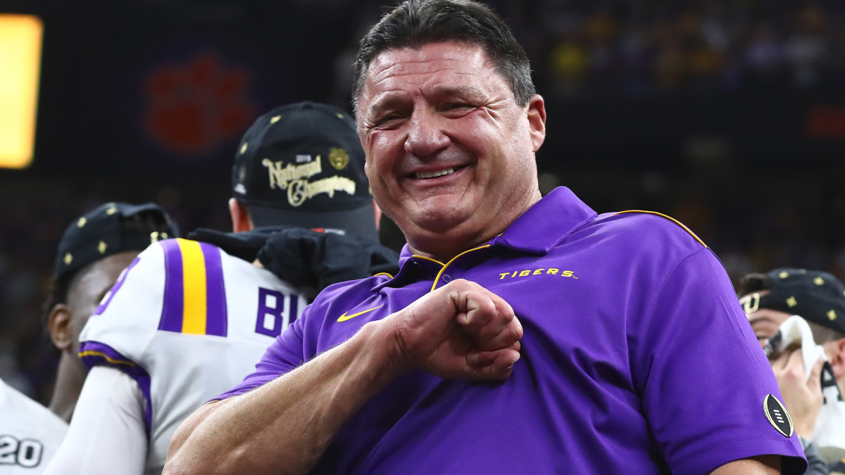 Ed Orgeron Agrees to Six-Year, $42 Million Contract Extension - Sports Illustrated