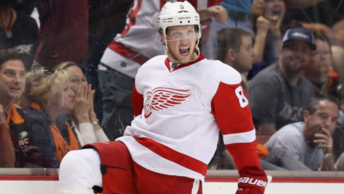 Justin Abdelkader.  Photo courtesy of The Detroit Red Wings.