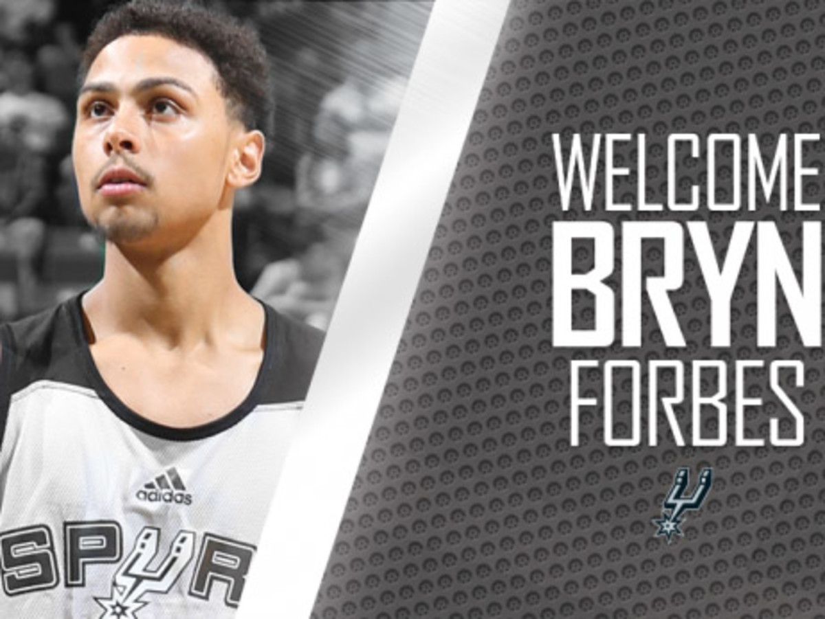 Bryn Forbes photo courtesy of the San Antonio Spurs.