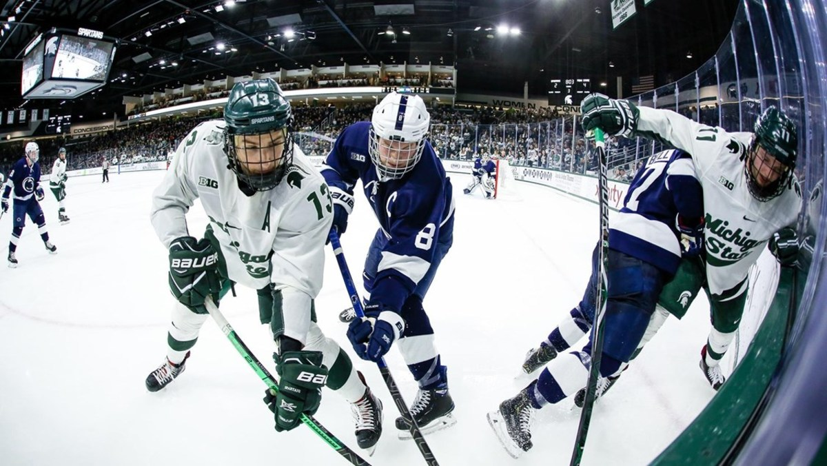 Michigan State hockey (PHOTO:  MSU SID)