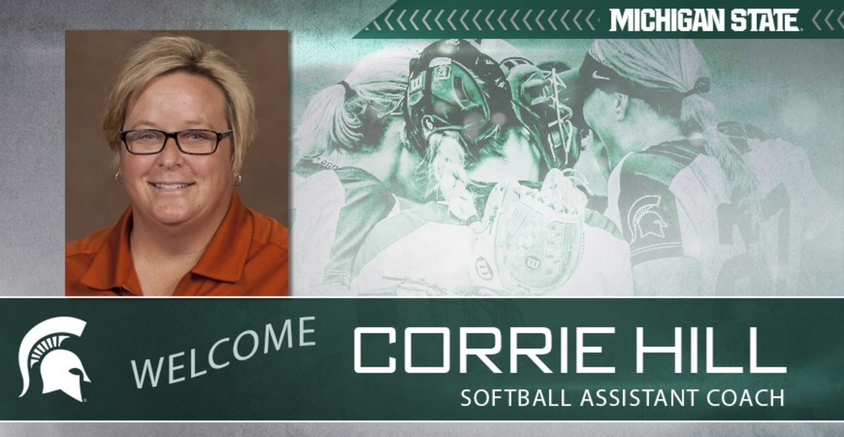 coach Corrie Hill to the Michigan State staff (PHOTO:  MSU SID)