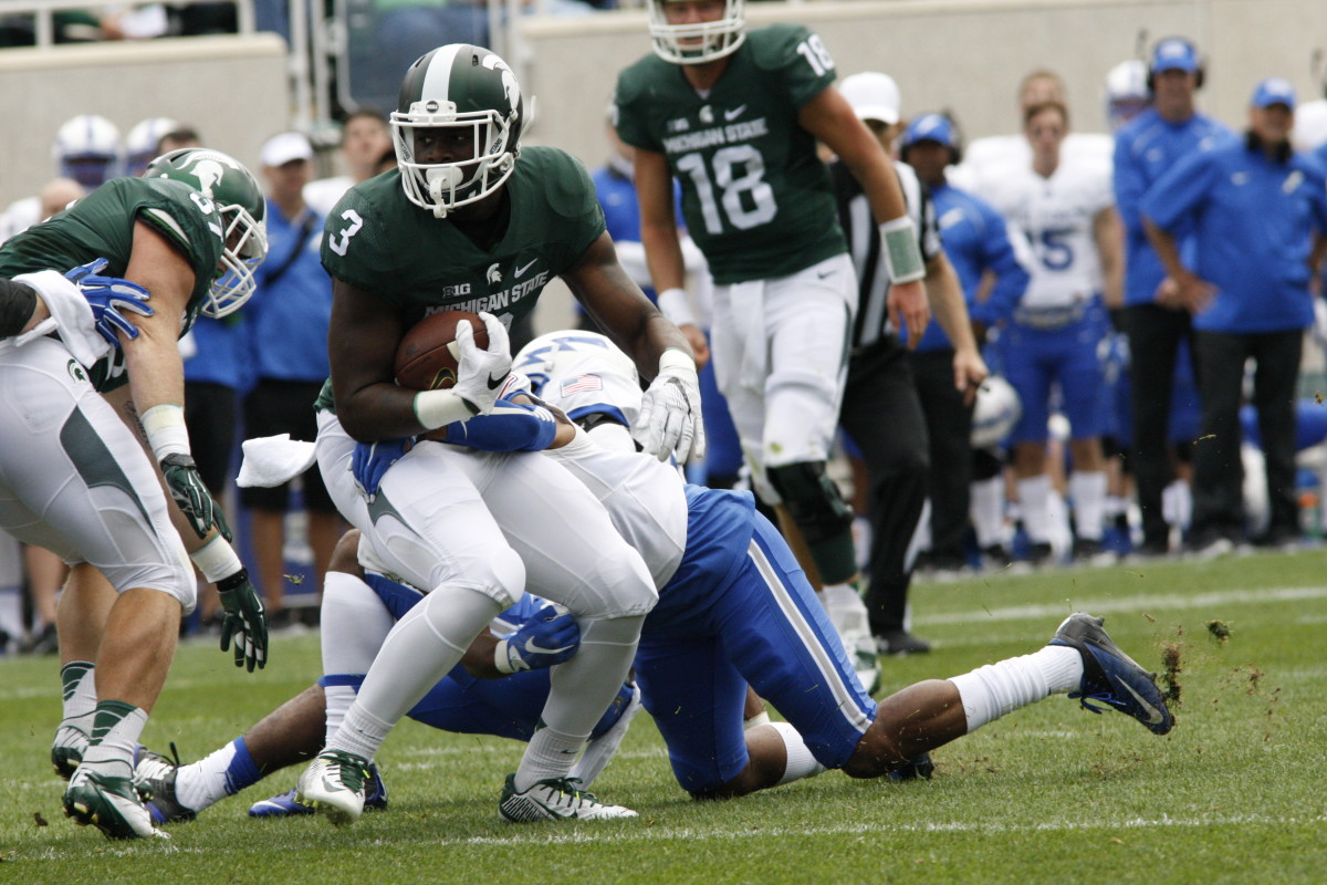 Spartan RB LJ Scott   Photo courtesy of Starr Portice.