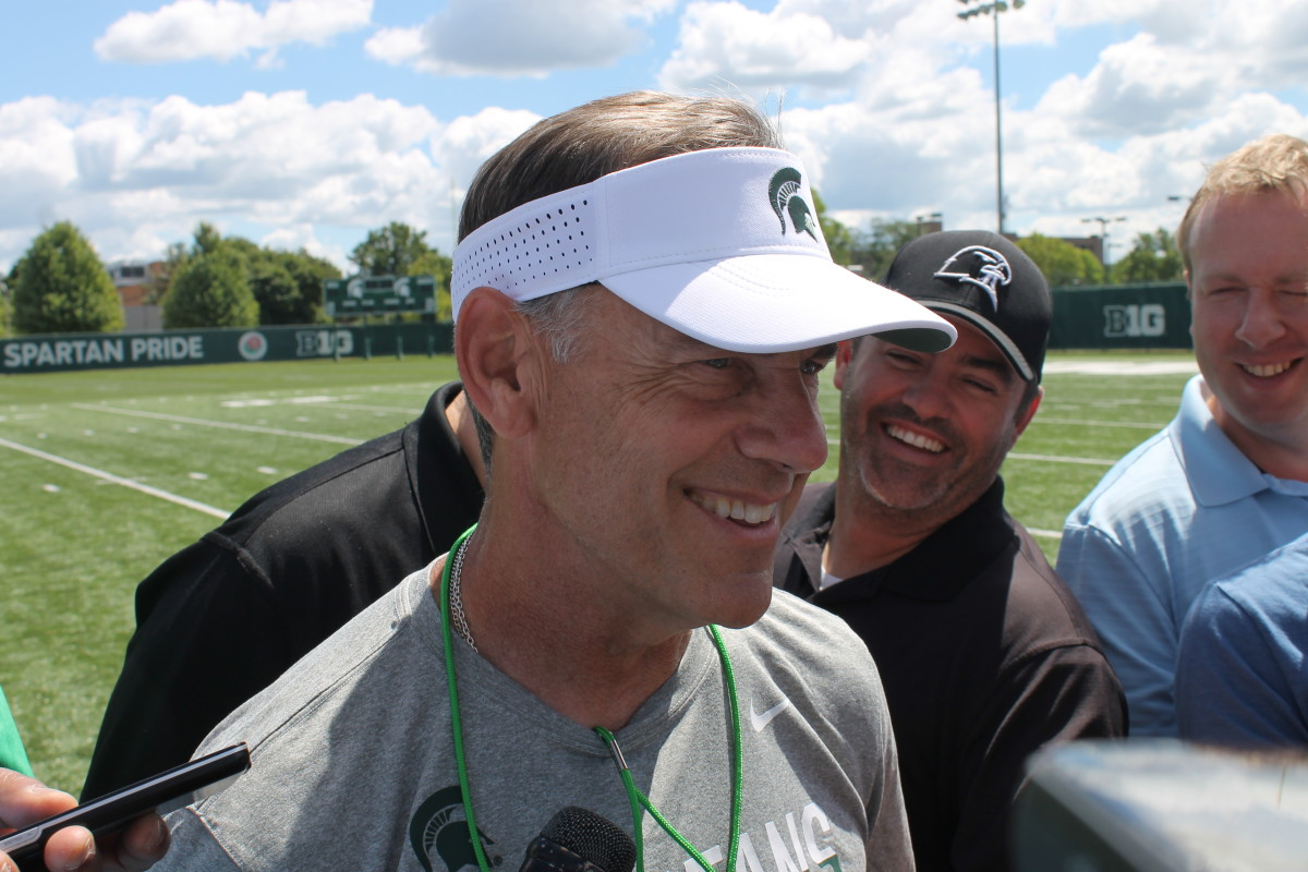 Mark Dantonio opens camp 2016.  Photo courtesy of Chris King.