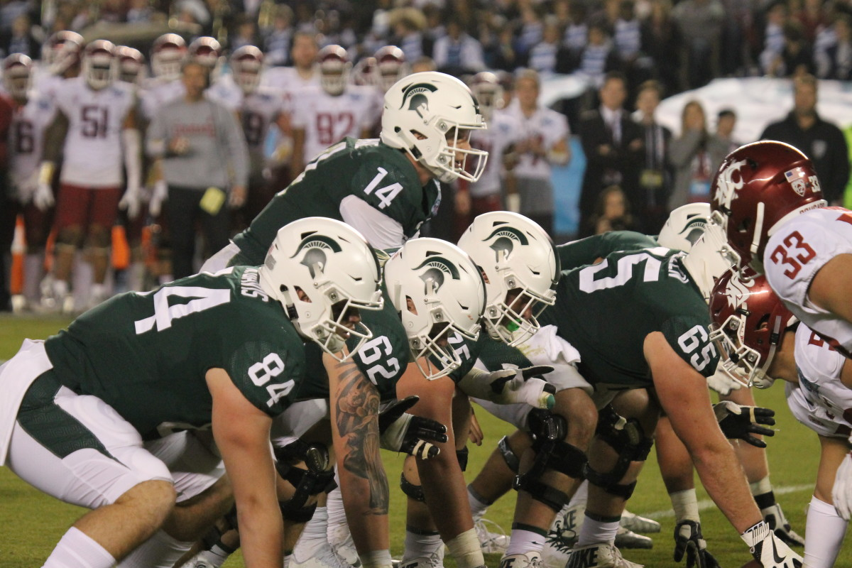 Brian Lewerke and the Spartans vs Washington State (Duffy Carpenter @DuffyCarpenter1 )