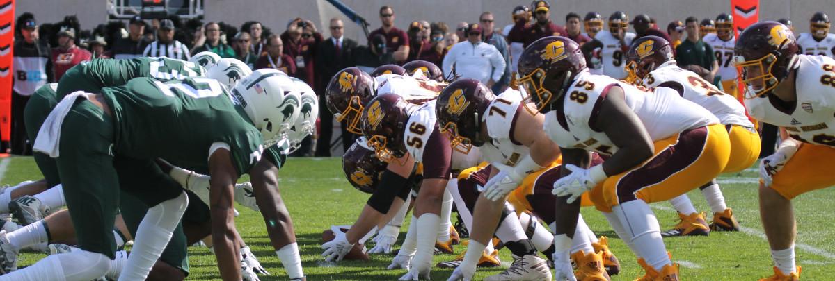 MSU 31-20 over CMU.  (Photo;  Duffy Carpenter)