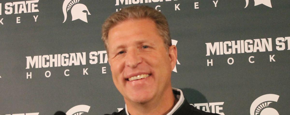 MSU Hockey Coach Danton Cole (PHOTO:  Duffy Carpenter)