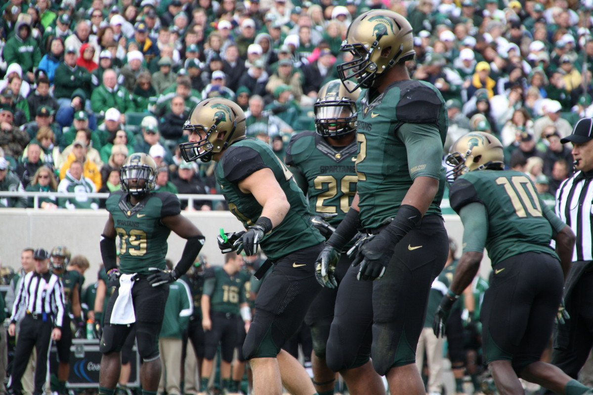 The Spartans have not had a defense this good since 1966 and will go from a nationally ranked #5 unit in 2011 to potentially the best in the nation in 2012.  Photo courtesy of Mark Boomgaard.