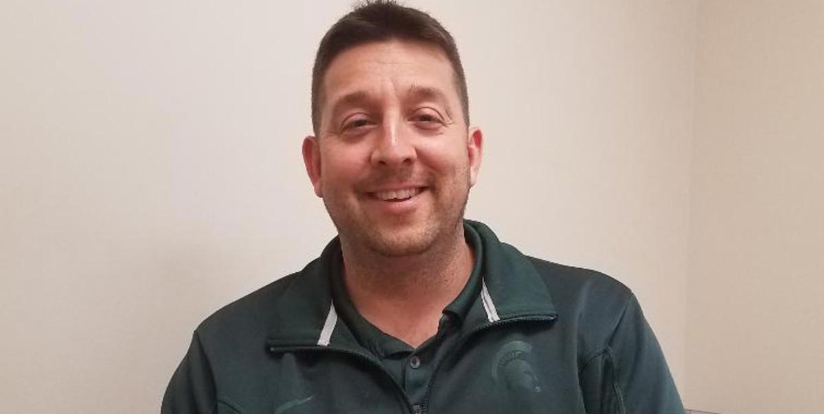 Coach Adam Trumpour, Belleville High School (PHOTO:  Duffy Carpenter @DuffyCarpenter1 )