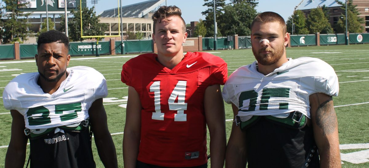 Bachie, Lewerke and Willis Named 2018 Team Captains (PHOTO:  Duffy Carpenter)