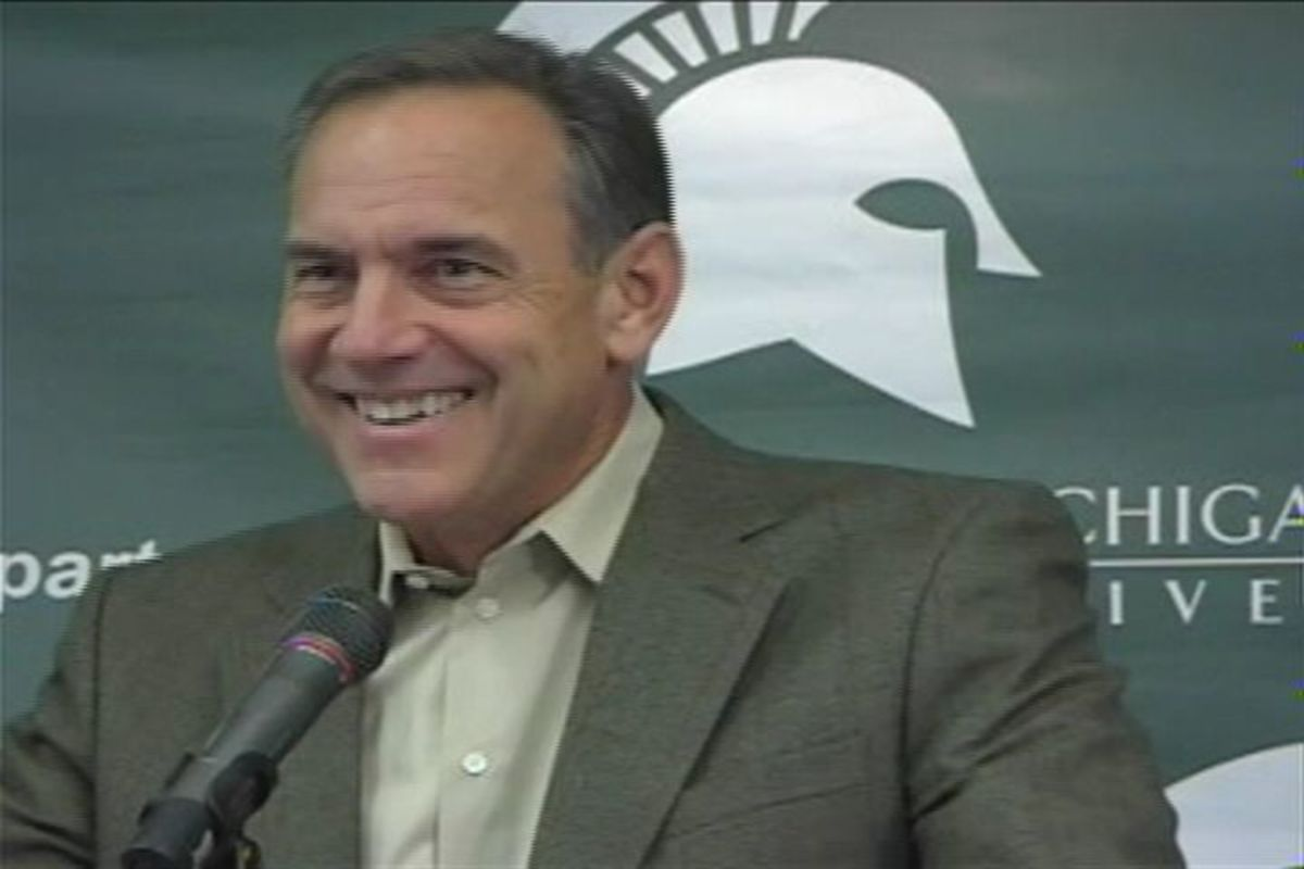 I thought Coach Dantonio Didn't Smile?