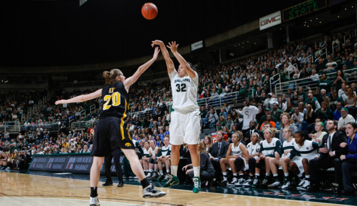 Congratulations to Keane who was nothing less than a great athlete and young lady for the Spartan Nation.  Photo courtesy of MSU SID.