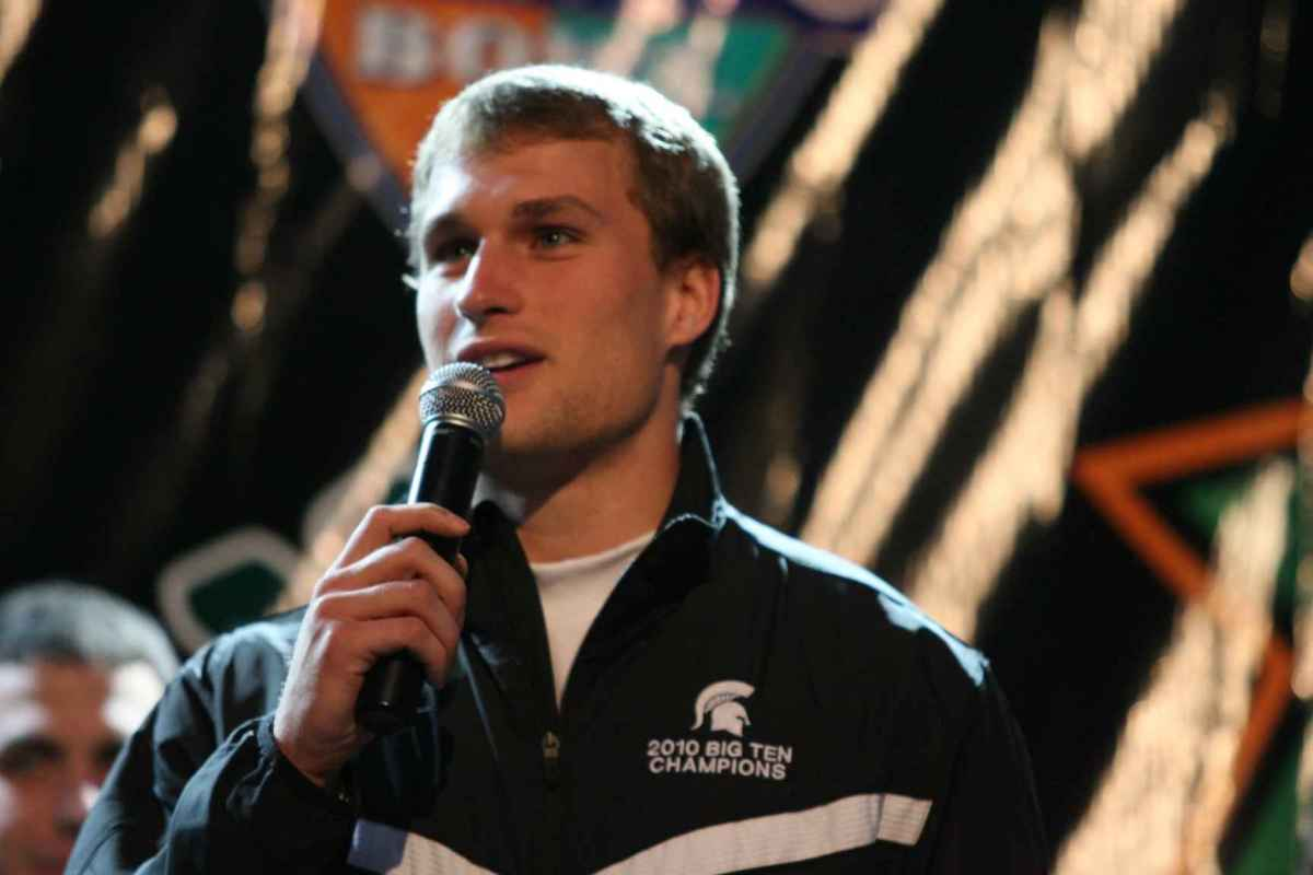 Spartan QB Kirk Cousins gave an empassioned plea for the Spartan Nation to finish what they started in 2010.  Photo courtesy of Bill Marklevits.